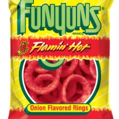 FRITO-LAY/LARGE SINGLE SERVE Funyuns, Flamin Hot , 1.25oz Bag