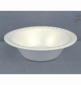 PACTIV CORPORATION Bowl, 12oz. Pactiv White Foam Bowl 8/125ct. Case