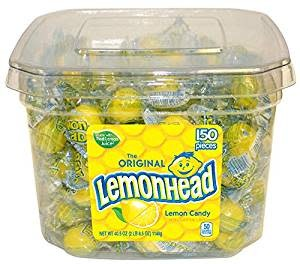 FERRARA PAN Lemonhead Lemon Candy 150ct. Jar