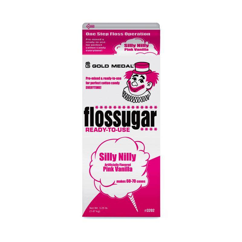 Gold Medal Products Co Floss Sugar, Pink Vanilla Cotton Candy Mix 3.25lb Each
