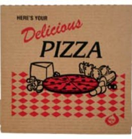 "INGLESE BOX COMPANY Pizza Box, Kraft Red Brick 16"" 50ct."
