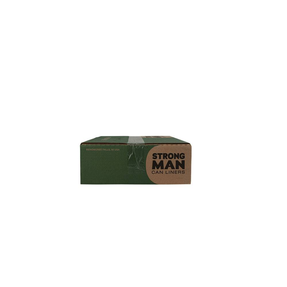 Strong Man Can Liner, Strong Man 56 Gal. 43x47 (1.5mil.) Black 100ct. Case