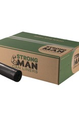Strong Man Can Liner, Strong Man 60 Gal. 38x58 (1.5mil.) Black 100ct. Case