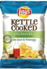 FRITO-LAY/LARGE SINGLE SERVE Lays, Kettle Sea Salt and Vinegar LSS 64ct Case