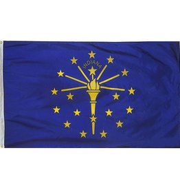 Flags, 4' X 6' State of Indiana Flag (Nylon) Each