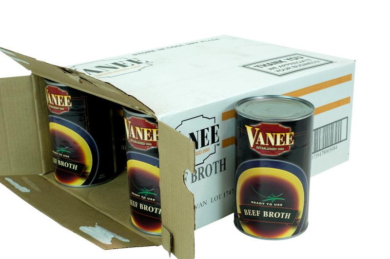 VANEE FOODS Broth, Beef Broth 12/46oz. Case