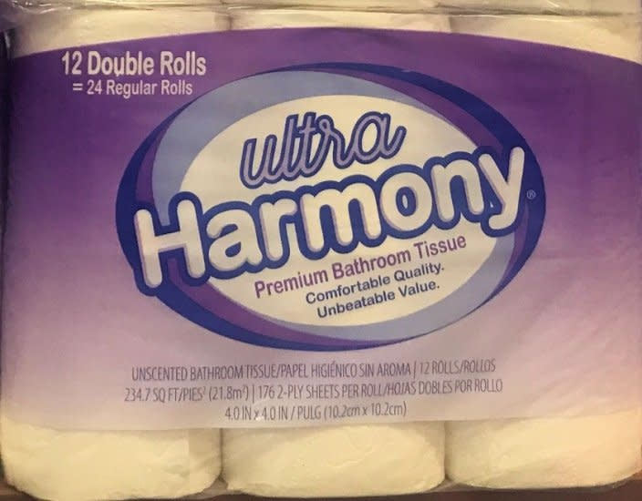 Resolute Toilet Tissue, Harmony Ultra 2-Ply 4/12ct Case