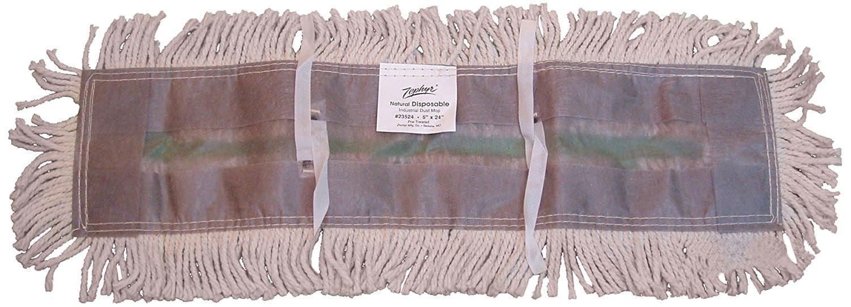 "ZEPHYR MFG CO Dust Mop Head, 5"" x 36"" White Disposable Cotton, Each"