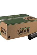 Strong Man Can Liner, Strong Man 60 Gal. 38x58 (2.3EQ) Black 100ct. Case