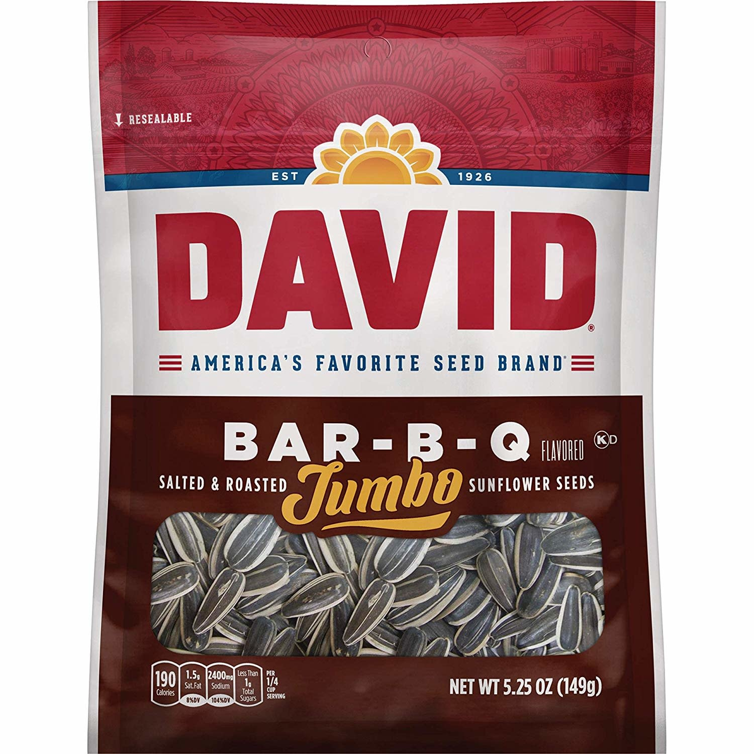CONAGRA GILARDI Sunflower Seeds, David's BBQ 5.25oz