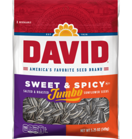 CONAGRA GILARDI Sunflower Seeds, David's Sweet & Spicy 5.25oz