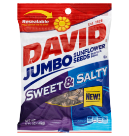 CONAGRA GILARDI Sunflower Seeds, David's Sweet & Salty 5.25oz