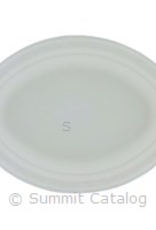 "PACTIV CORPORATION Plates, 9"" 1-Comp Paper EarthChoice 125ct"