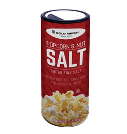 Gold Medal Products Co Popcorn & Nut Salt, Super Fine 17 oz. Canister