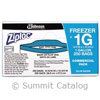 SC Johnson Freezer Bag, Ziploc Gallon 250ct