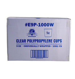 Empress Cups, 9oz Empress Wrapped Clear Polypro 20/50ct