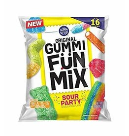 Promotion In Motion Fruit Snacks, Gummi Fun Mix Sour Party 48/4.25oz Case