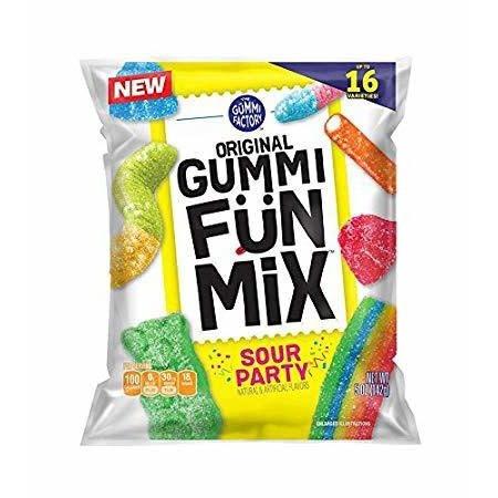 Promotion In Motion Fruit Snacks, Gummi Fun Mix Sour Party 48/4.25oz Case