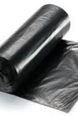 "Can Liner, RDM 56 Gal. Black 1.5mil (43x47"") Rolls Black 100ct. Case"