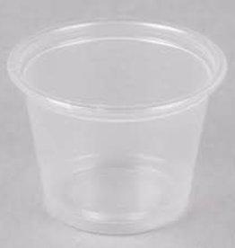 PRIME SOURCE Souffle Cups, P/S 1oz. Clear 25/100ct. Case