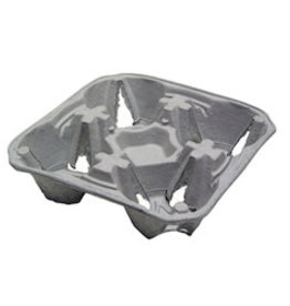 PACTIV CORPORATION Tray, Drink Carrier 4-Cup 8-32oz 300ct