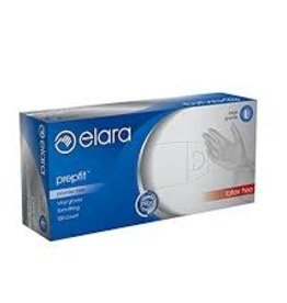 Elara Gloves,  Elara Powdered Vinyl, Large 100ct. Box