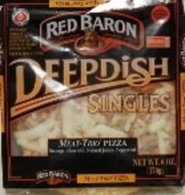"Red Baron Red Baron Pizza, Meat Trio 5"" Pizza 5.44oz."