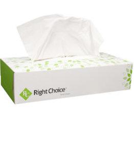 Right Choice Facial Tissue, Right Choice Flat Box 30/100ct. Case
