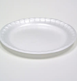 """Genpak Plates, 6"""" Genpak White Foam Plate, 8/125ct Case"""