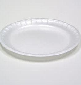 """Genpak Plates, 6"""" Genpak White Foam Plate 125ct Sleeve"""