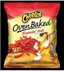 FRITO LAY Cheetos Baked Flamin Hot Crunchy 104/1oz Case