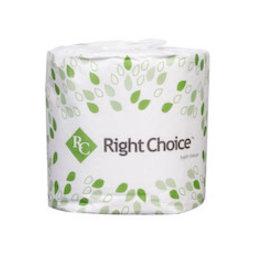 "Right Choice Toilet Tissue, Right Choice 4.5x3.5"" 2ply 500 sheet 96ct. Case"