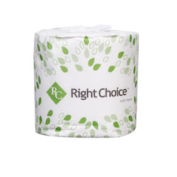 "Right Choice Toilet Tissue, Right Choice 4.5x3.5"" 2ply 500 sheet 96ct. Case"