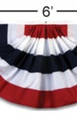 American Flag Flags, 3'x6' American Fan Flag (Nylon) Each