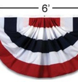 American Flag Flags, 3'x6' American Fan Flag (Nylon) Each