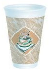 Cups, 16oz Cafe Hot/Cold Foam Cups 25ct. Sleeve