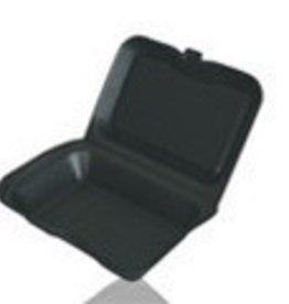 "Darnel Hinged Cont, 9"" 1-Compartment Black Foam (S-1) 200ct. Case"