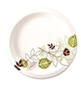 "Dixie Food Service Plates, 6"" Dixie Paper Plate 4/250ct. Case"