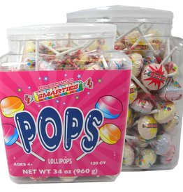 CEDE CANDY Smarties, Lolli Pops 120ct. Tub