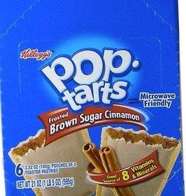 KELLOGG/KEEBLER COOKIE&CRACKER Pop Tarts, Frosted Brown Sugar 6ct. Box