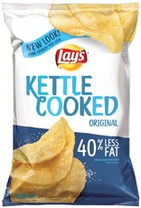 FRITO-LAY/LARGE SINGLE SERVE Lays Kettle Cooked Original Chips, LSS Bag