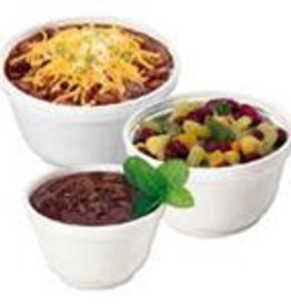 Dart Container Food Cont., 6oz. Styrofoam Bowl (6B12) 20/50ct. Case