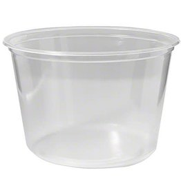 NetChoice Deli Container, 16oz. Clear Container 10/50ct. Case