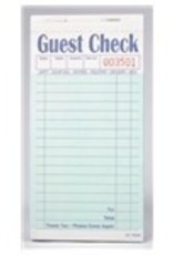 National Checking Guest Checks, 16-Line Single Copy Green Books 100ct