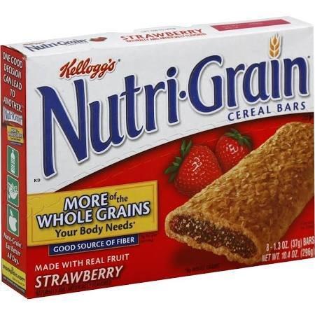 KELLOGG/KEEBLER COOKIE&CRACKER Nutri-Grain, Strawberry Cereal 8ct. Box
