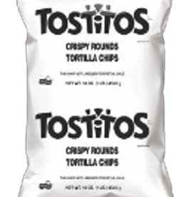 FRITO LAY Tostitos, Rounds 8/16oz. Case.