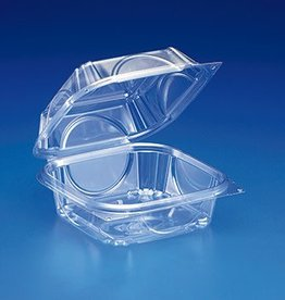 "INLINE PLASTICS CORP Hinged Container, 6"" Clear Container 330ct. Case"