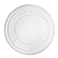 PRIME SOURCE Souffle Lids, P/S 2oz. Clear Vented Lid 100ct. Sleeve