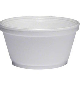 Dart Container Food Cont. 8oz. Styrofoam Squat (8SJ20) 20/50ct. Case