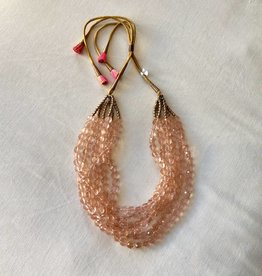 Jan Collection Rose Quartz Multi Strand Necklace